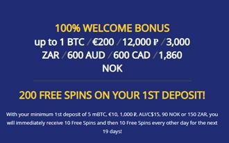 BetChain Casino Welcome Bonus