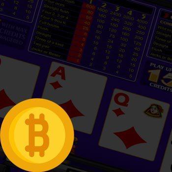 Bitcoin Video Poker Illustration