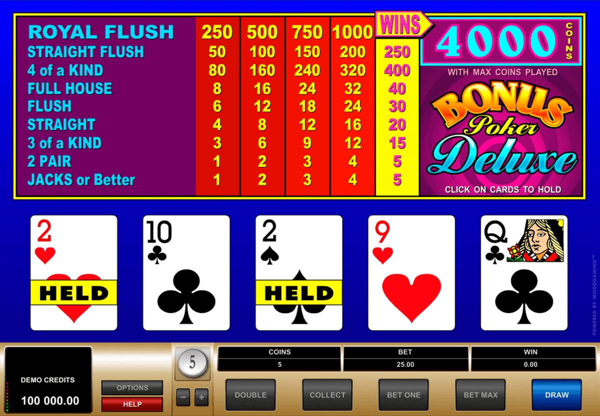 Spiele Bonus Poker Deluxe - 52 Hands - Video Slots Online